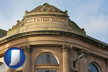 a savings bank - with Indiana icon