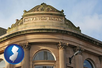 a savings bank - with New Jersey icon