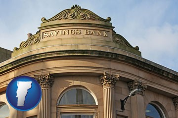 a savings bank - with Vermont icon