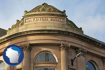 a savings bank - with Wisconsin icon